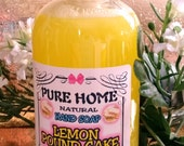 New--LEMON POUND CAKE--Liquid Hand soap--Natural Handamde from Scratch--Extra Moisturizing--Smells so yummy