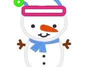 Christmas Snowman Applique Shirt Embroidered Shirt Sample Sale