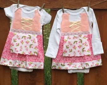 READY TO SHIP Newborn baby dirndl short sleeve only