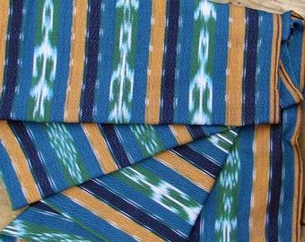 Guatemalan Fabric in Teal Ikat