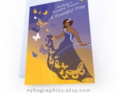 Beautiful Woman, Birthday Card for Women of Colour, for Mum, African Art, Black Woman, African American Cards, Afro Caribbean, Multicultural