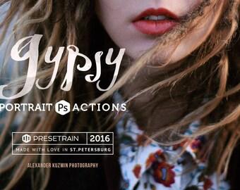 Gypsy Portrait Photoshop Actions - artistic toning for portrait, fashion and fine-art photography - Photoshop CS4, CS5, CS6, CC 2014 & 2015