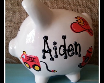Personalized Piggy Bank | small | piggy bank-Free shipping in the US| over 50 designs