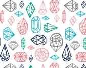 Crib Sheet - White Gems - Fitted Crib Sheet