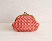 Liberty retro geometric frame purse - red -