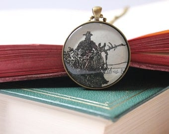Willa Cather jewelry - cowboy Christmas gift for teacher  - literary jewelry gift idea for librarian - bookish jewellery