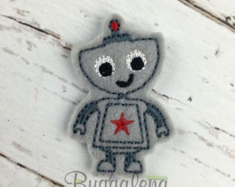ON SALE Robot Feltie Embroidery Design