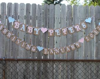 Pregnancy announcement banner
