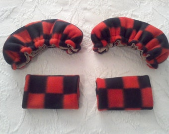 Black and Red Checkered Crutch Covers