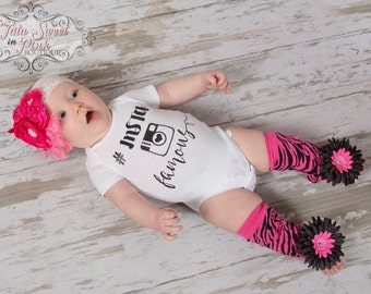 Baby Girl Bodysuit/Insta Famous/Hashtag Insta Famous Shirt/Newborn Bodysuit/Girls Shirt/Baby Shower Gift/Vinyl Shirt
