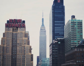 The New Yorker - Fine Art Photograph, buildings, urban, Empire State Building, Travel Photography