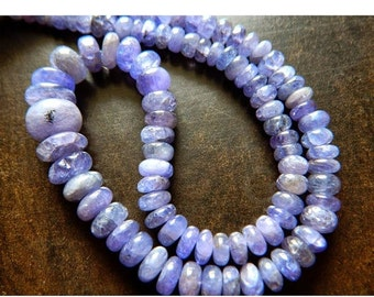 55% ON SALE Tanzanite Beads, Tanzanite Jewelry, Rondelle Beads, 5mm To 11mm Each, 18 Inch Full Strand, 130 Pieces Approx