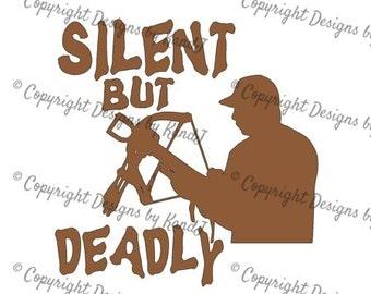 Bow Hunter svg Hunting svg digital cut file Silent but deadly svg Instant download