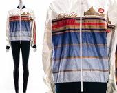 Vintage 80s RARE New York City Marathon TYVEK Bomber Jacket NYC Zip Up Jacket Runners Running Coat City Unisex Medium Large