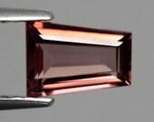 ZIRCON (22096) Trapezoid Cut Pink Champagne 7 x 5mm -Tanzanian Zircon