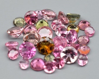 TOURMALINE (30875)  Gorgeous Mix!  PARCEL (33 Gems / 2 cts.)  Lovely Mixed Tourmaline - Mozambique Mined -Faceted