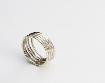Ring in sterling silver , made to order