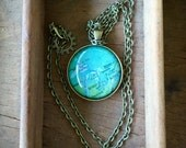 Great Lakes Globe Necklace Map World Travel Wanderlust Gift for Traveler Earth Nation