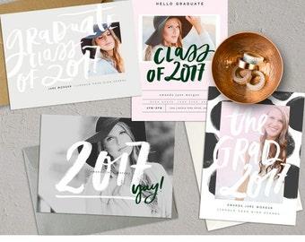2017 Grad 5×7 Cards vol1  INSTANT DOWNLOAD