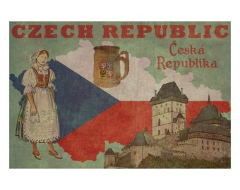 CZECH REPUBLIC 1F- Personalized Leather Journal Cover Moleskine Field Notes Custom