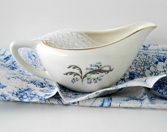 Vintage Bluebells by Edwin Knowles Gravy Boat or Creamer. Replacement China. Tea Parties Tableware. Bridal Tea Party. Floral China.
