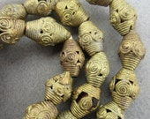 African Tabular Brass Beads