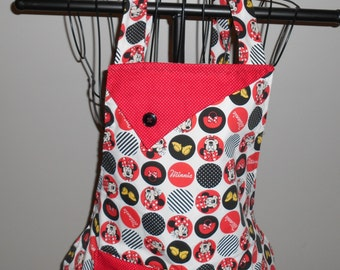 Minnie Mouse Circles and Stripes Women's Apron
