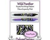 Bead Pattern Peyote(Pen Wrap/Cover)-Wild Panther