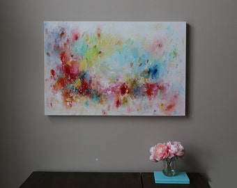 abstract painting   red abstract painting ,modean ,Acrylic abstract painting.painting on canvas,wall art,canvas art,multi color, colorfu