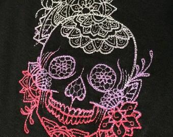Rockabilly punk rock and roll rocker skull day of the dead, sugar skull dress