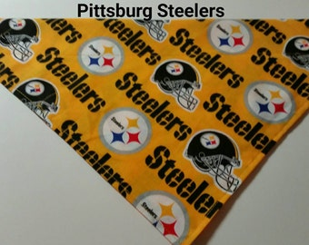 Pittsburg Steelers dog bandana to cheer on the team, NFL, football, sports