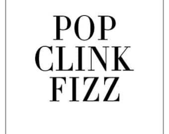 Pop Clink Fizz - Greeting Card/Flat Card Stationery Set