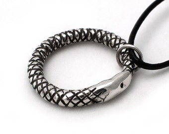 Ouroboros pendant in sterling silver