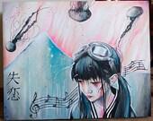 "20"" x 16"" Original Painting- Jellyfish Journeys"