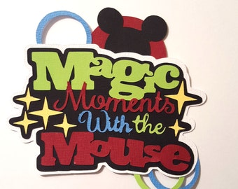 Mickey Mouse title - paper piecing for scrapbook page