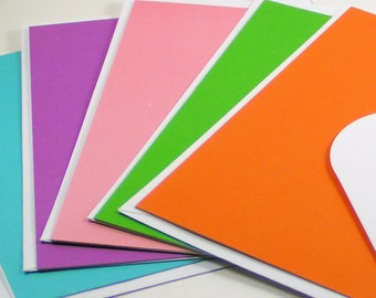 Blank Multi-color Note Cards with White Envelopes - Set of 5
