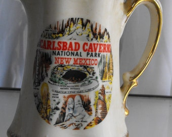 Carlsbad Caverns National Park Souvenir Pitcher, New Mexico National Park, Vintage Travel Souvenir, China Pitcher, Acme Craftware