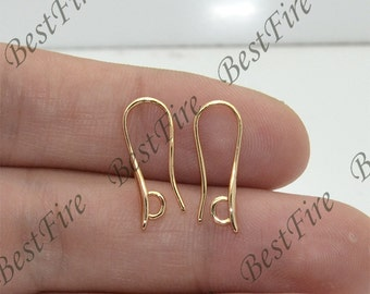 4pcs 24K Gold plated Brass earrings hook coil ear wire,leverback earwire,Jewelry findings,earring findings,earrings findings