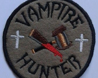 Vampire Hunter patch, bloody, patches, Vampire Slayer, Bram Stoker, Dracula, UK