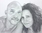 Custom order pencil portrait commission