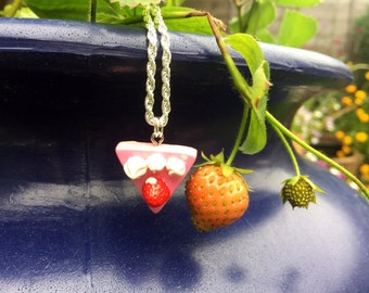 Strawberry Tart Necklace