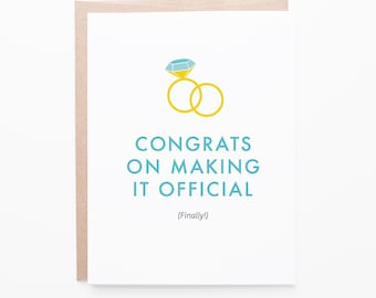Finally Official Wedding Greeting Card | Engagement, Couples, Marriage