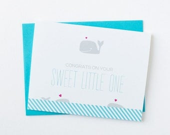 New Baby Greeting Card | Congratulations On Your Sweet Little One