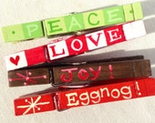 CHRISTMAS CLOTHESPINS handcpainted magnetic funny