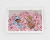 Grand Budapest Hotel's Zero and Mendl's Agatha Greeting Card Set of 3