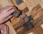 24 piece 1 1/2 inch custom wood block photo puzzle