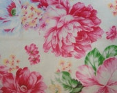 """8"""" x 8"""" Shabby Chic Roses white multi color edible image wafer paper sheet for your iced cake, cookies, cupcakes, chocolates"""