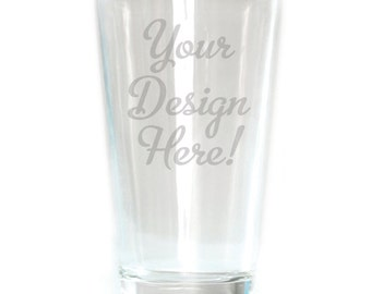Customized Pub Glass - 16oz - 8636 Your Design Here!