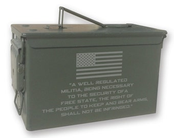 Engraved Ammo can - 14172 2nd Amendment-Ammo Can
