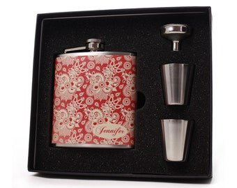 Flask for Women // Personalized Flask Gift Set